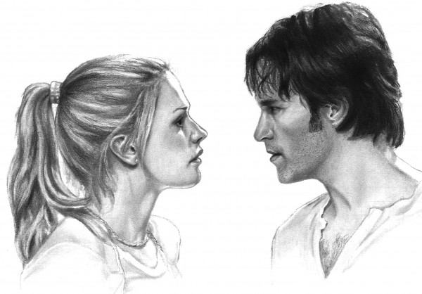 Anna Paquin, Stephen Moyer by dmbgal07